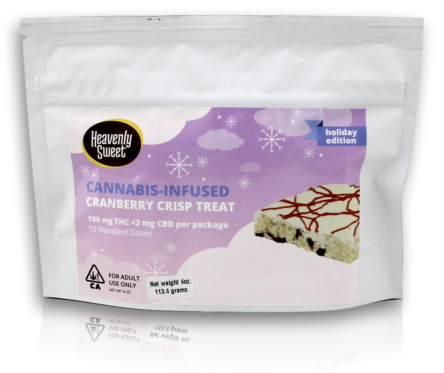 Heavenly Sweet Edible Treat Cranberry Crisp 100mg THC
